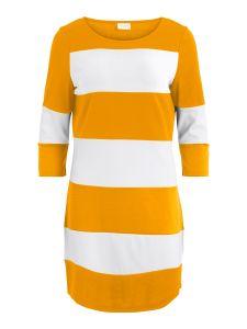 vila-naisten-trikoomekko-vitinny-new-dress-raidallinen-keltainen-1