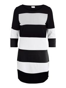 vila-naisten-trikoomekko-vitinny-new-dress-raidallinen-musta-1