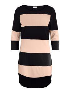 vila-naisten-trikoomekko-vitinny-new-dress-raidallinen-vaaleanpunainen-1