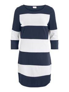 vila-trikoomekko-vitinny-new-dress-raidallinen-sininen-1
