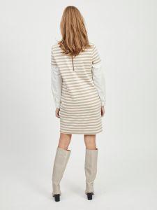 vila-trikoomekko-vitinny-new-ss-dress-raidallinen-beige-2