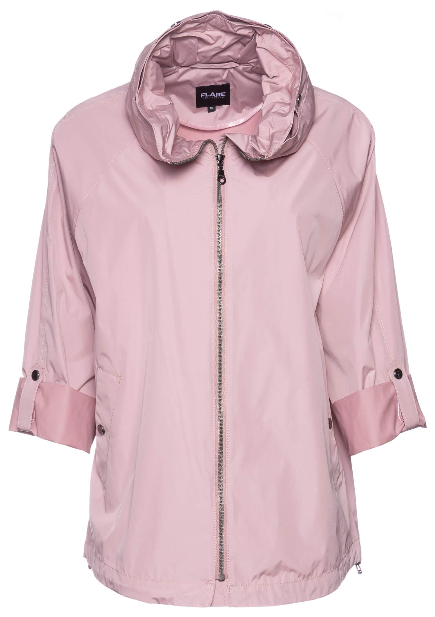 Dixi Coat Flare Kevättakki Vaaleanpunainen