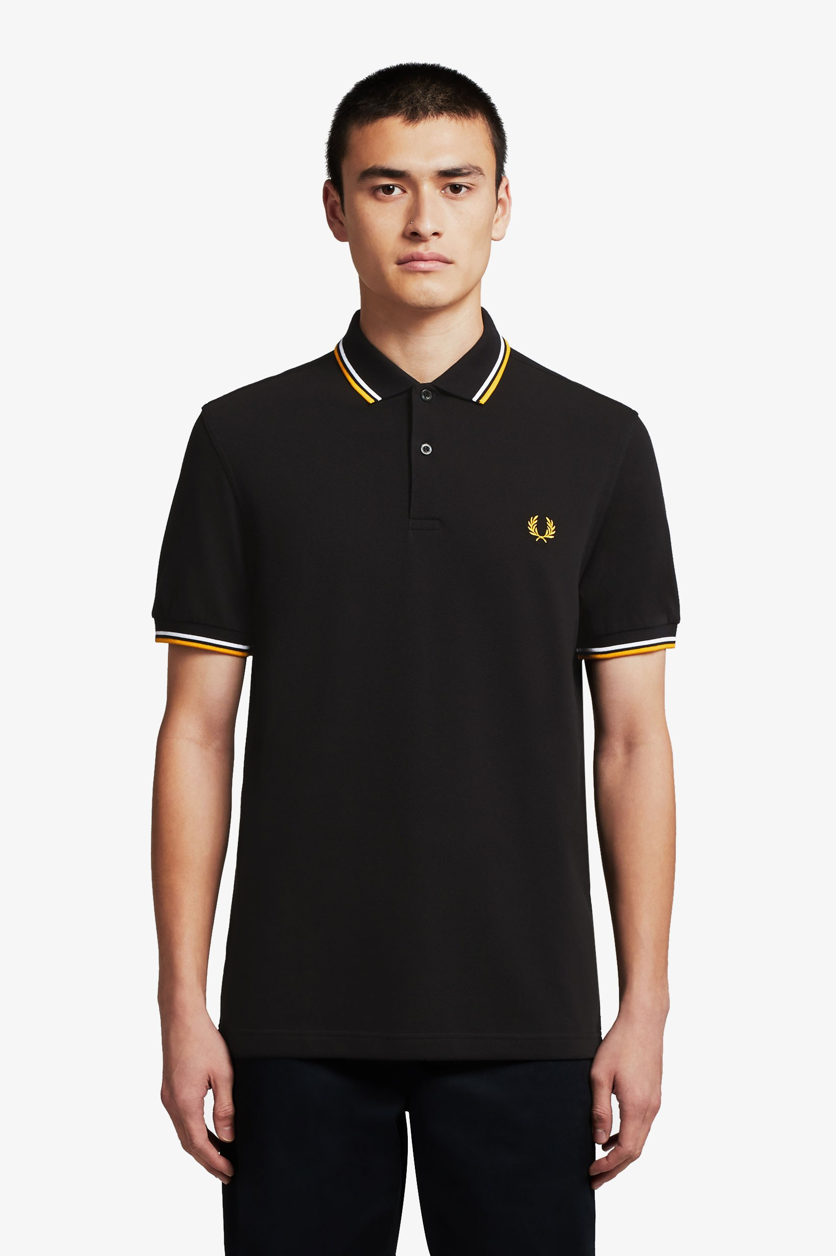 Fred Perry Miesten Pikeepusero, Twin Tipped Musta