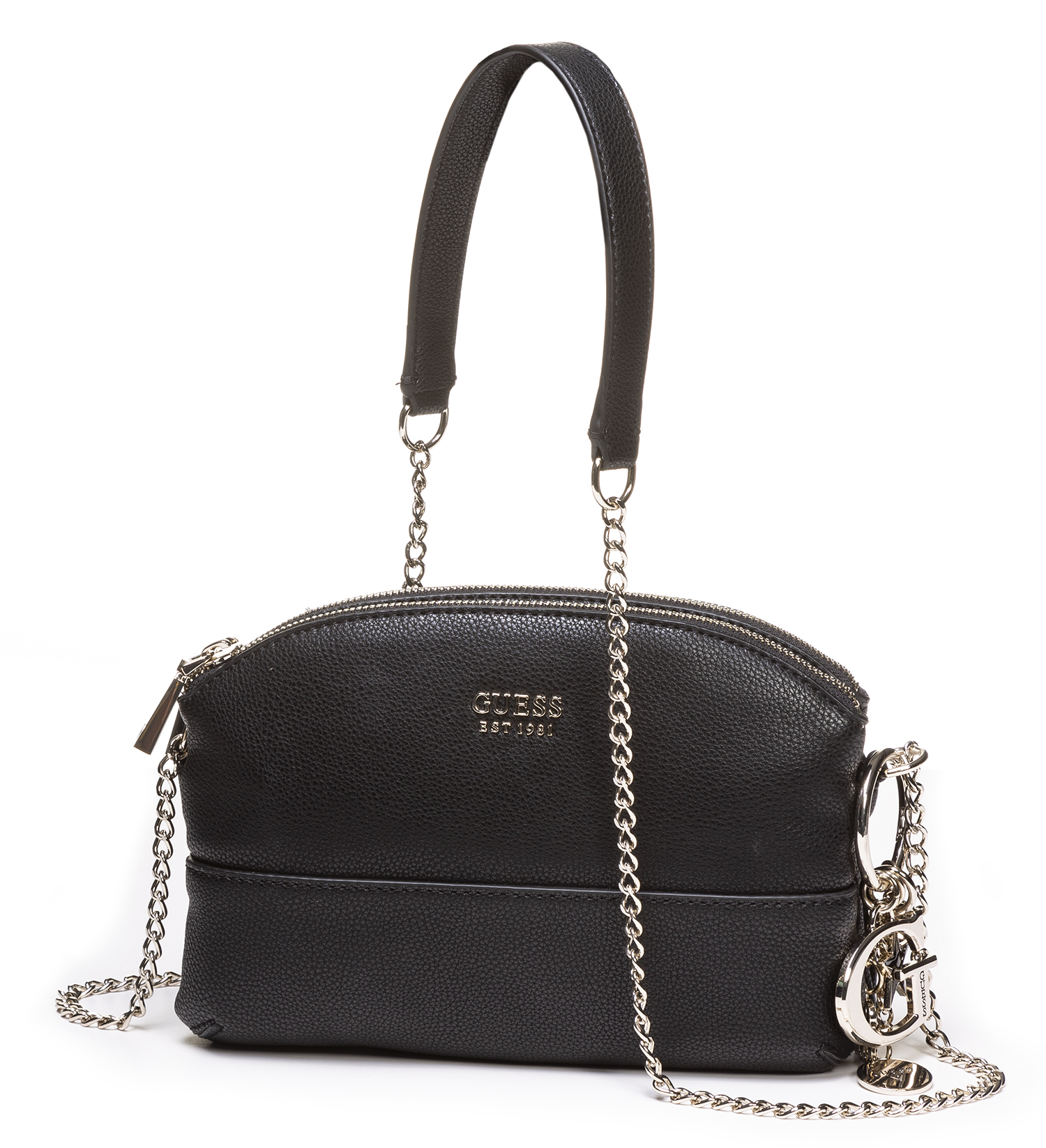 Gues Pieni Laukku, Lila Mini Double Zip Crossbody Musta