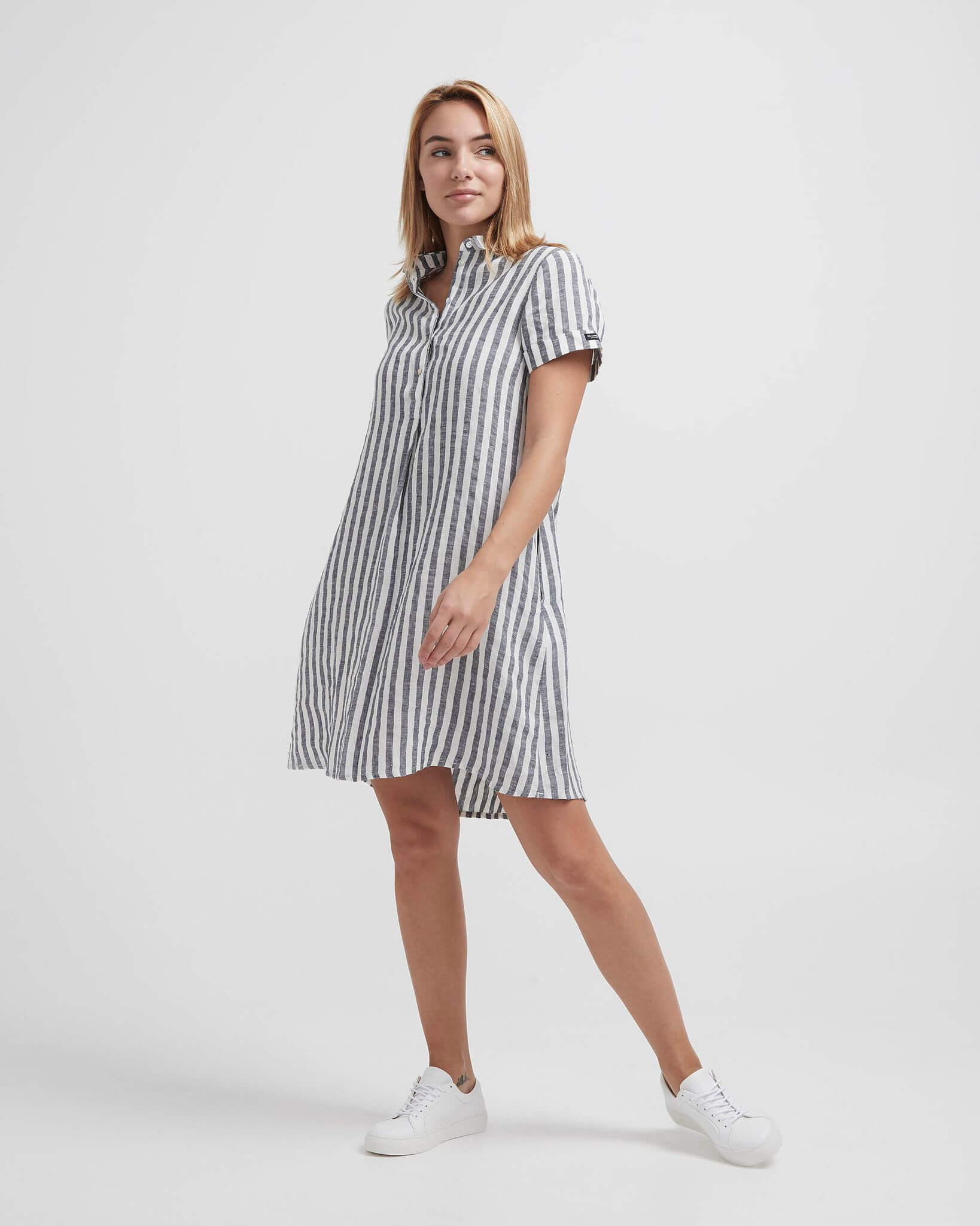 Holebrook Naisten Mekko, Solina Tunic Dress Raidallinen Sininen