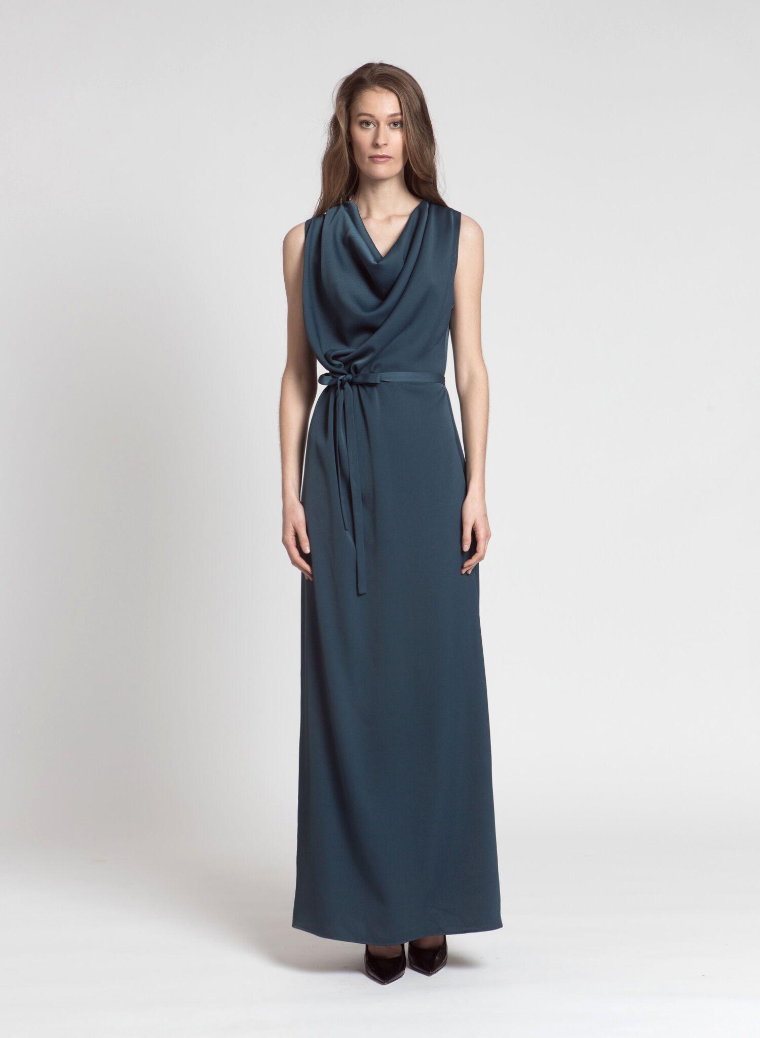 Katri Niskanen Iltapuku, Thelma Evening Dress Petroolinsininen