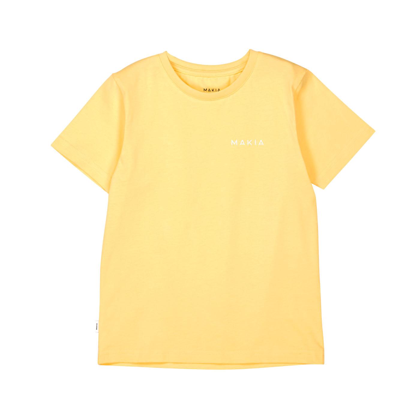 Makia Kids Lasten T-paita, Trim Keltainen