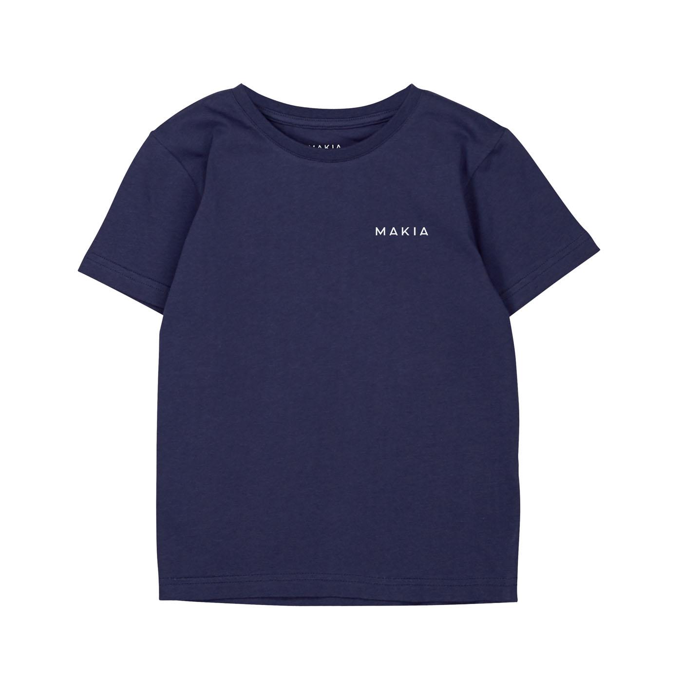 Makia Kids Lasten T-paita, Trim Tummansininen