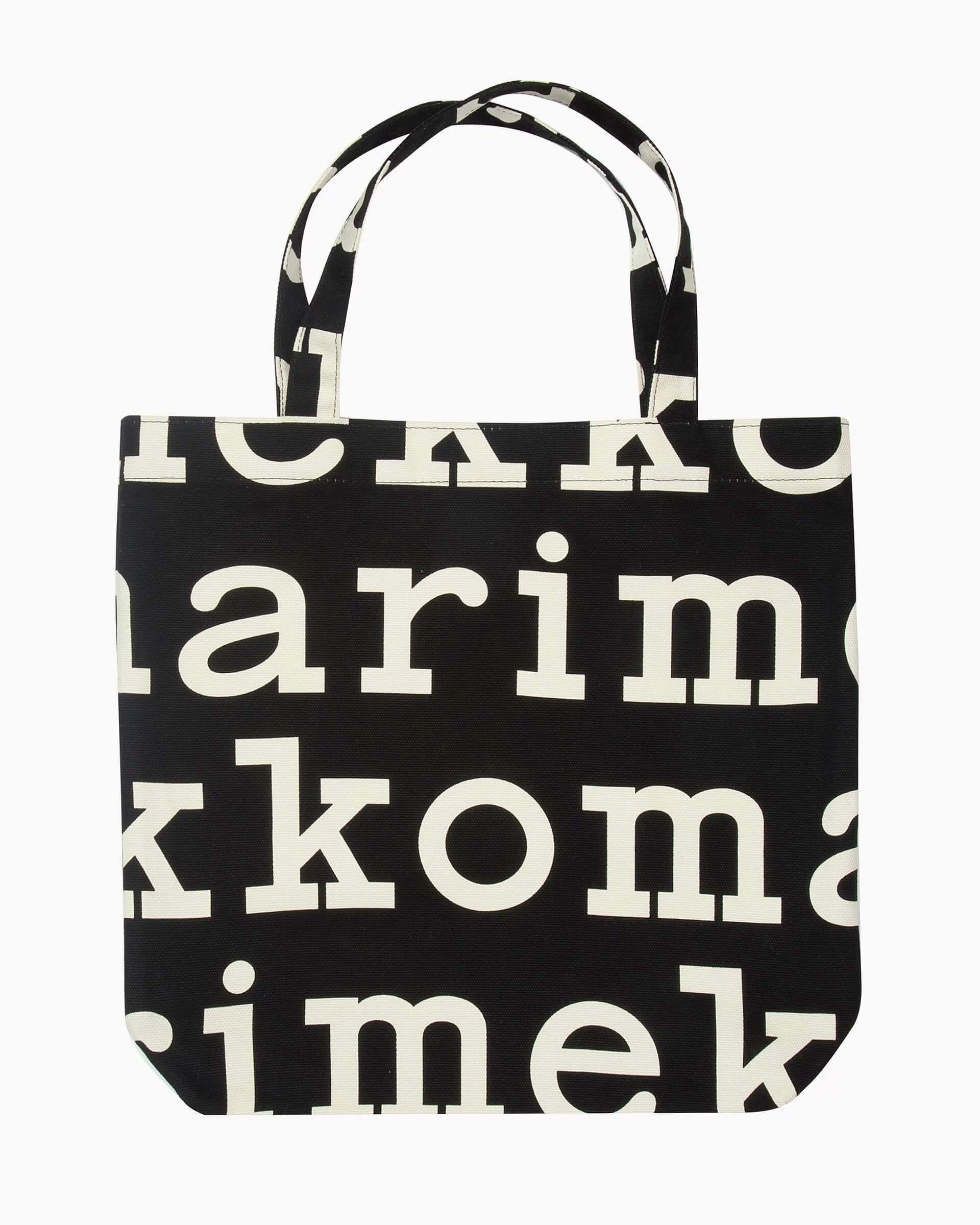 Marimekko Kangaslaukku, Notko Logo Mustavalkoinen