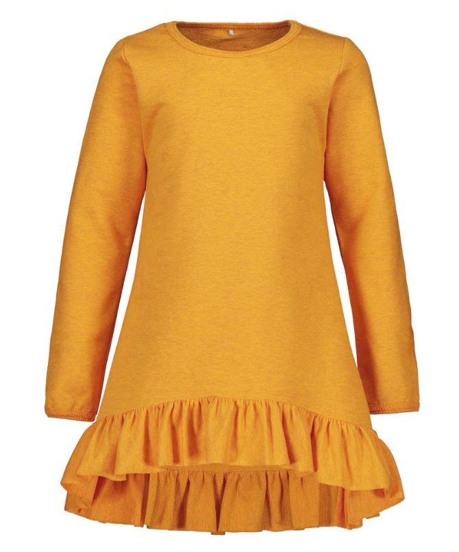 Metsola Lasten Collegemekko, Hem Frilla Dress Oranssi