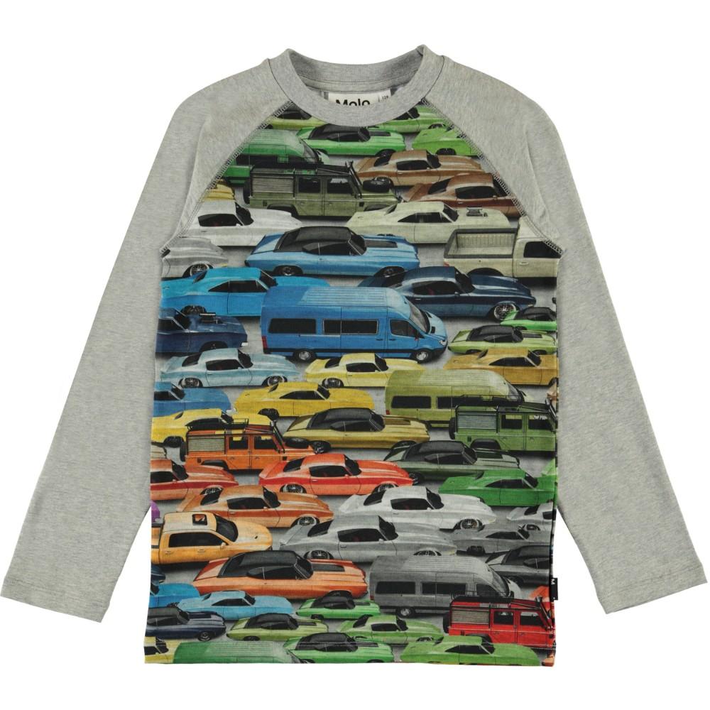Molo Kids Lasten Trikoopusero, Remington Cars Ls Vaaleanharmaa