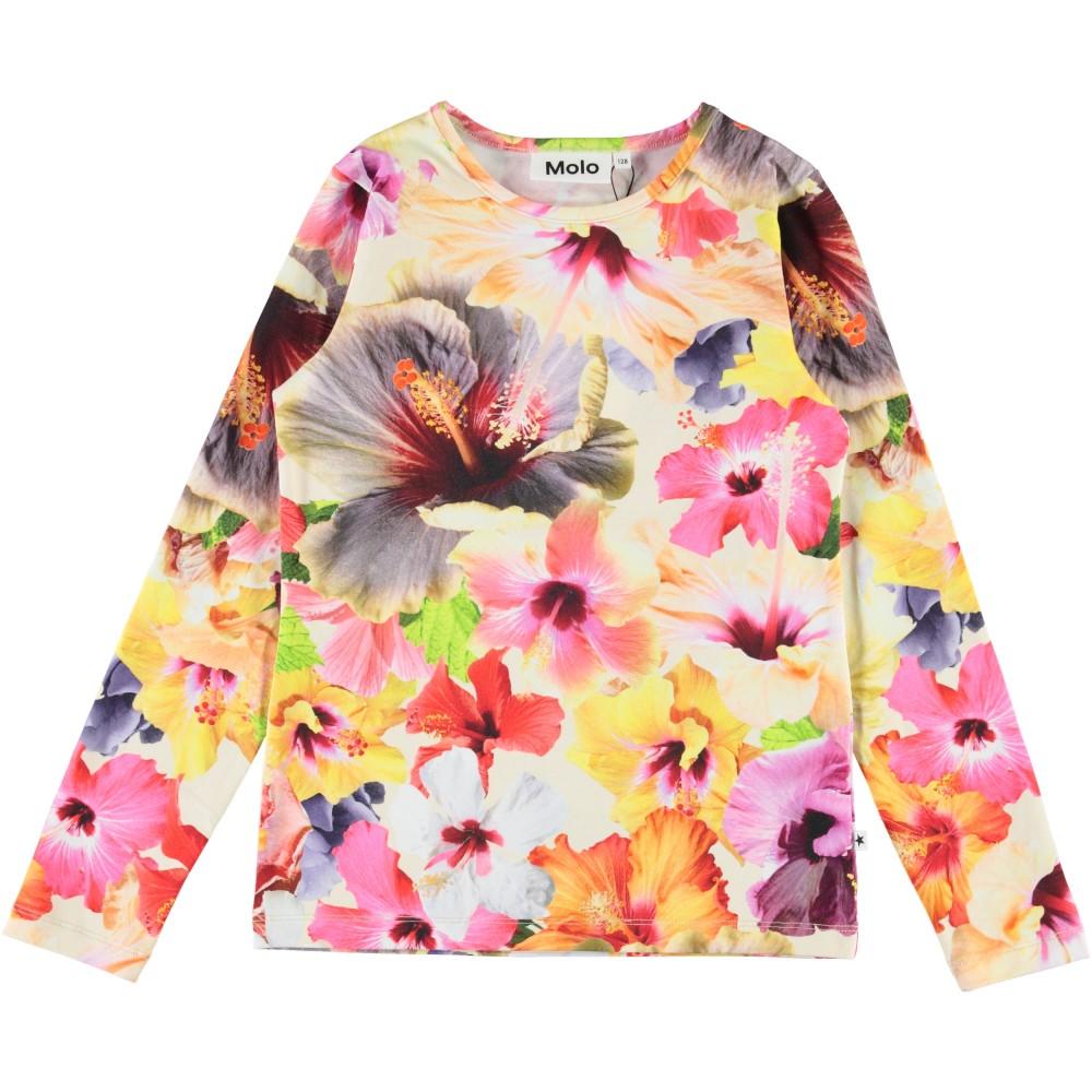 Molo Kids Lasten Trikoopusero, Rose Pacific Floral Ls Monivärinen Kuosi