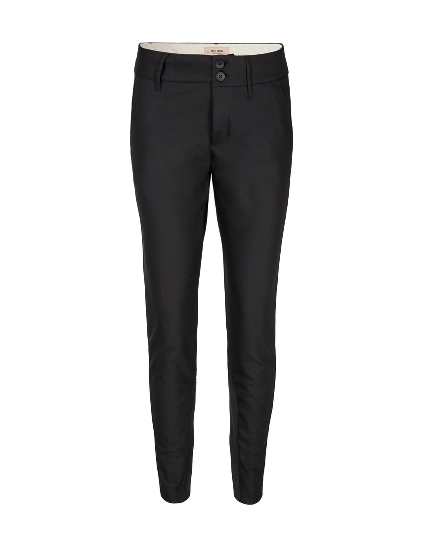 Mos Mosh, BLAKE NIGHT PANT SUSTAINABLE, Naisten housut Musta