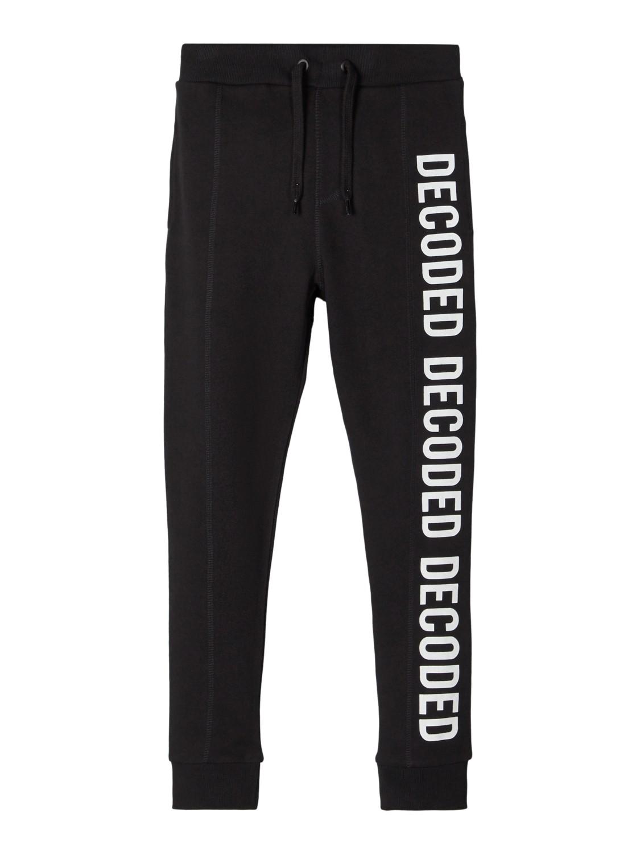 Name It Lasten Collegehousut, Benny Sweat Pant Unbrushed Musta