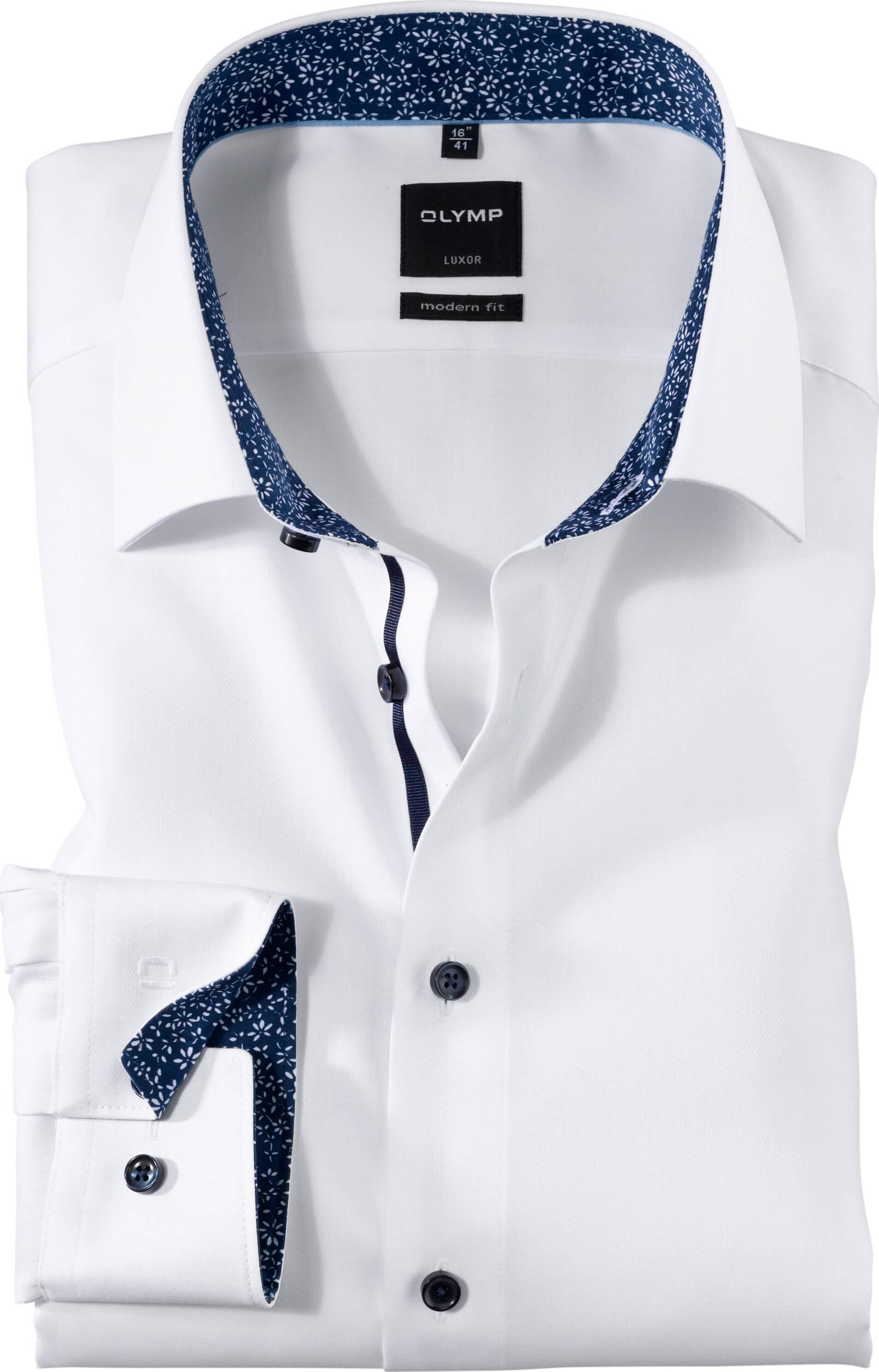 Olymp kauluspaita, modern fit + hiha Valkoinen