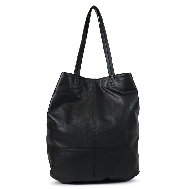 Redesigned Iso Nahkalaukku, Aini Bag Musta