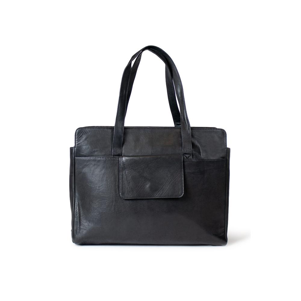 Redesigned Nahkalaukku, Evia Bag Musta