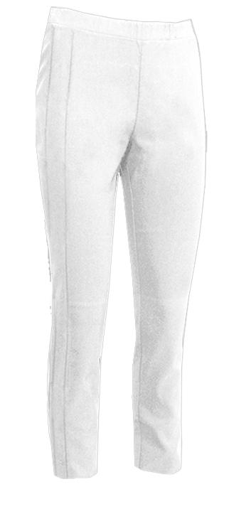 S.T.I Naisten Housut, Ellen Capri 60 cm Valkoinen