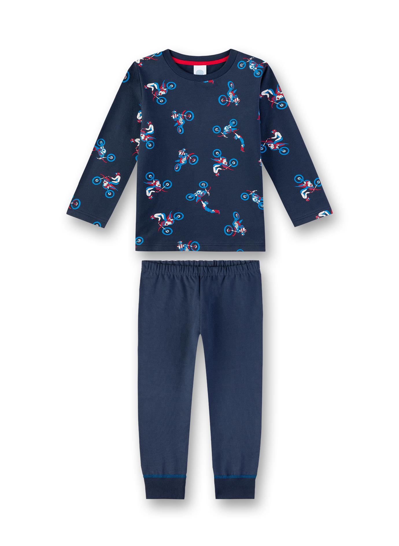 Sanetta Lasten Pyjama, Motocross Sininen Kuosi