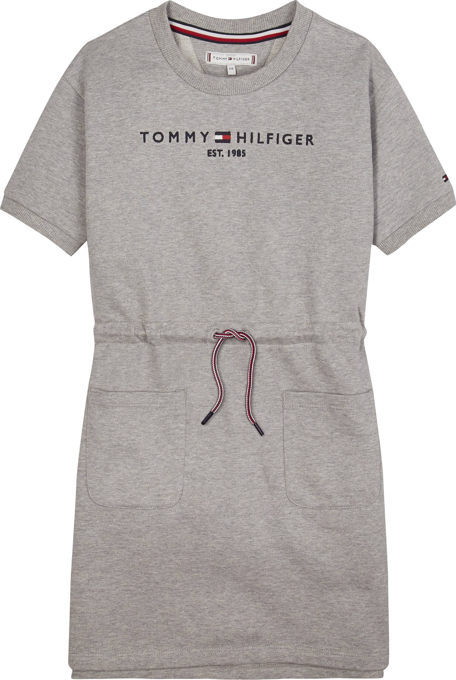 Tommy Hilfiger Childrenswear Collegemekko, Essential Dress Ss Keskiharmaa