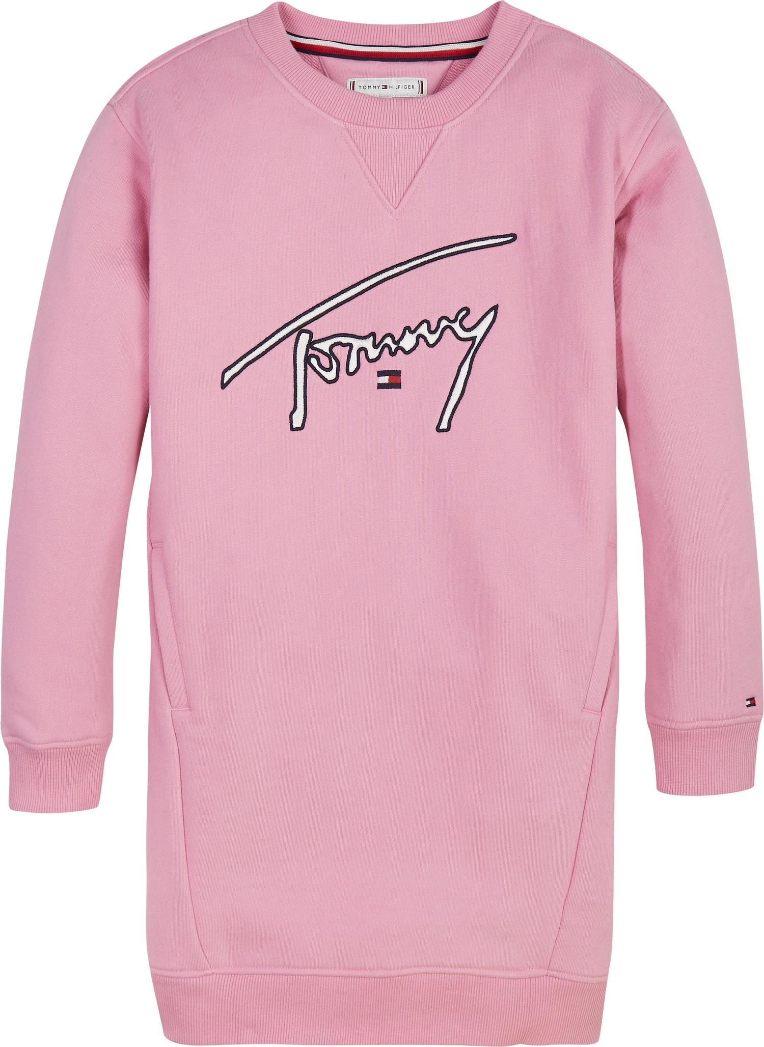 Tommy Hilfiger Childrenswear Collegemekko, Tommy Signature Vaaleanpunainen