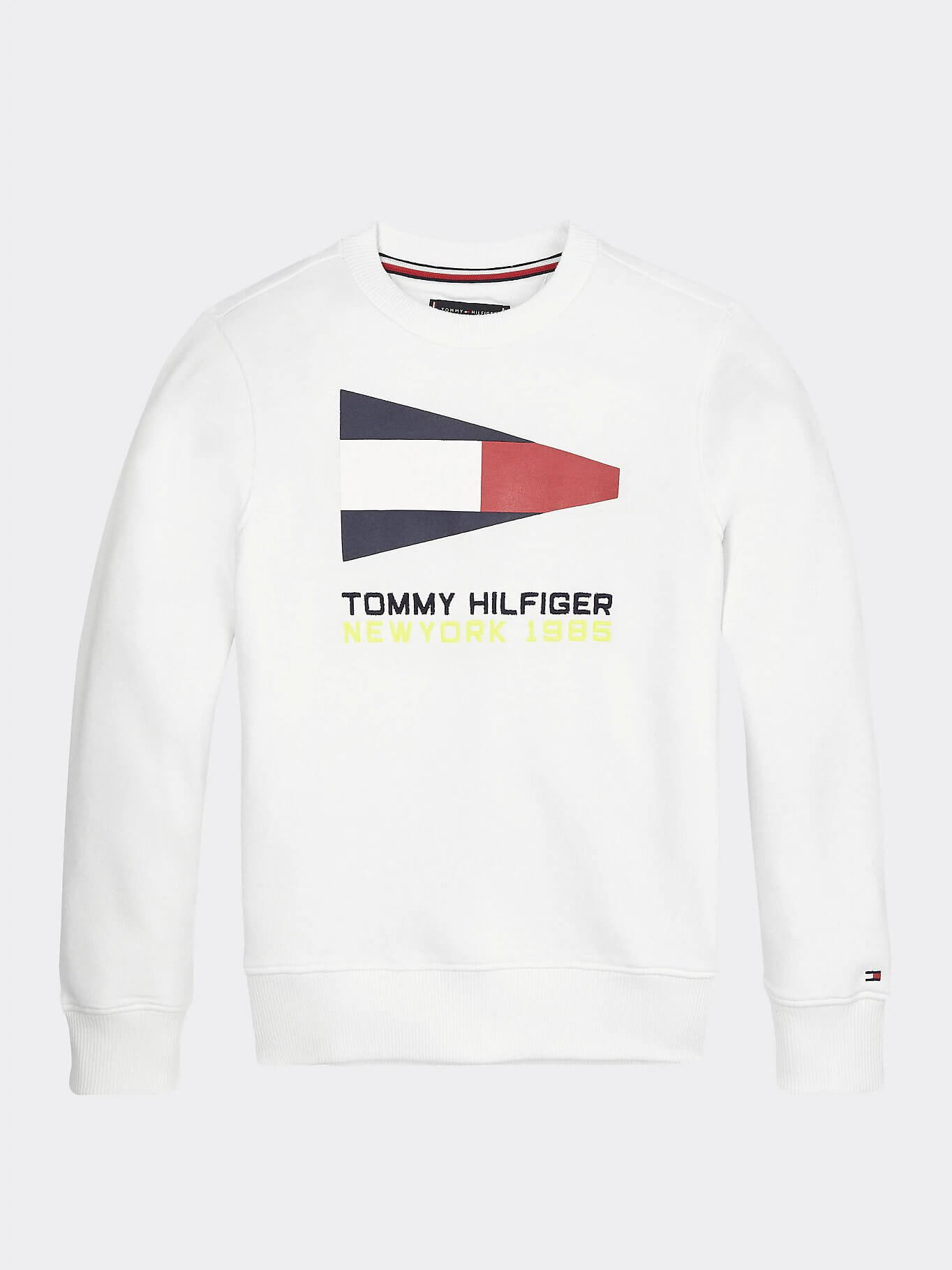 Tommy Hilfiger Childrenswear Collegepusero, SAILING FLAG GRAPHIC SWEATSHIRT Valkoinen