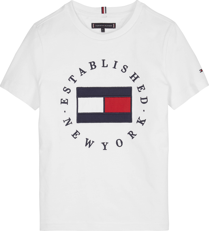 Tommy Hilfiger Childrenswear T-paita, TH Flag Tee Ss Valkoinen