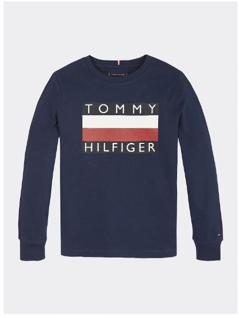 Tommy Hilfiger Childrenswear Trikoopusero, Essential Hilfiger Tee Ls Tummansininen