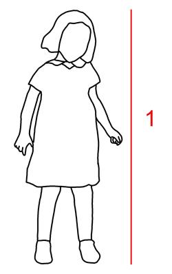 Kokotaulukko lasten vaatteet