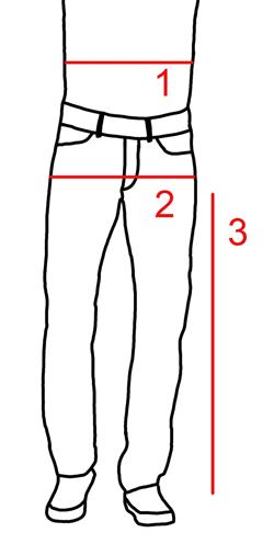kokotaulukko miesten housut